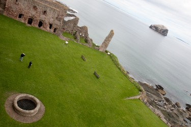 Atop Tantallon Castle