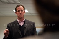 Former Pennsylvania Senator and likely 2012 presidential candidate Rick Santorum speaks to member of the Bedford GOP. Bedford, New Hampshire.