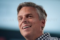 Former Utah governor Jon Huntsman speaks at the Town Hall in Exeter, NH shortly after announcing his candidacy for president.