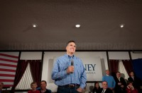 Presidential hopeful Mitt Romney holds a campaign rally at the VFW hall in Merrimack, NH  - JULIAN RUSSELL  |  METROPOL