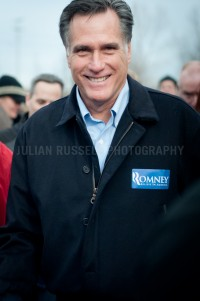 Presidential hopeful Mitt Romney speaks to voters in Portsmouth, NH. - JULIAN RUSSELL  |  METROPOL