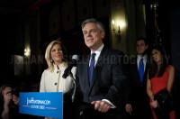 Presidential hopeful Jon Huntsman held a rally in Manchester after his 3rd place finish in the New Hampshire primary.  JULIAN RUSSELL  |  METROPOL