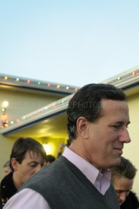 Presidential hopeful Rick Santorum speaks to potential supporters at the American Legion Hall in Somersworth, NH.  JULIAN RUSSELL  |  METROPOL