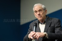 Presidential hopeful and Texas Congressman Ron Paul speaks to potential supporters at a town-hall style meeting at the University of New Hampshire in Durham, NH.  -  JULIAN RUSSELL  |  METROPOL