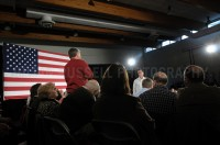 Presidential hopeful Mitt Romney holds a town-hall style meeting with John McCain  in Salem, NH.  - JULIAN RUSSELL | METROPOL