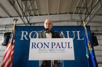 Presidential hopeful  Ron Paul held a rally at Jet Aviation in Nashua on his return to New Hampshire after a strong showing in the Iowa caucus.  - JULIAN RUSSELL | METROPOL
