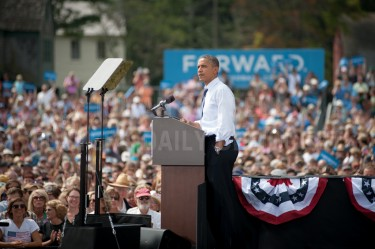 Fresh from the Democratic National Convention president Barack Obama speaks to over 6,000 people at a campaign rally at Strawberry Banke in Portsmouth on Friday.
