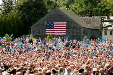 Over 6000 people attend a campaign rally for president Barack Obama at Strawberry Banke in Portsmouth on Friday.