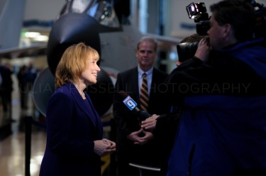 Governor-Elect Maggie Hassan gives a television interview before her inauguration as governor in Concord on January 3rd.